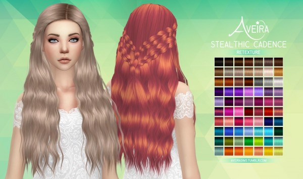 Aveira Sims 4: Stealthic`s Cadence hair retextured for Sims 4