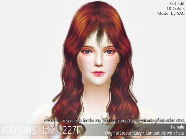 MAY Sims: May 226F hair retextured for Sims 4