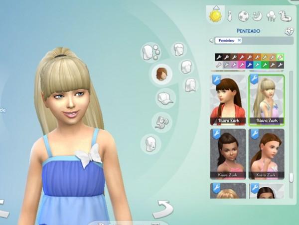 Mystufforigin: Ariana Ponytail for Girls for Sims 4