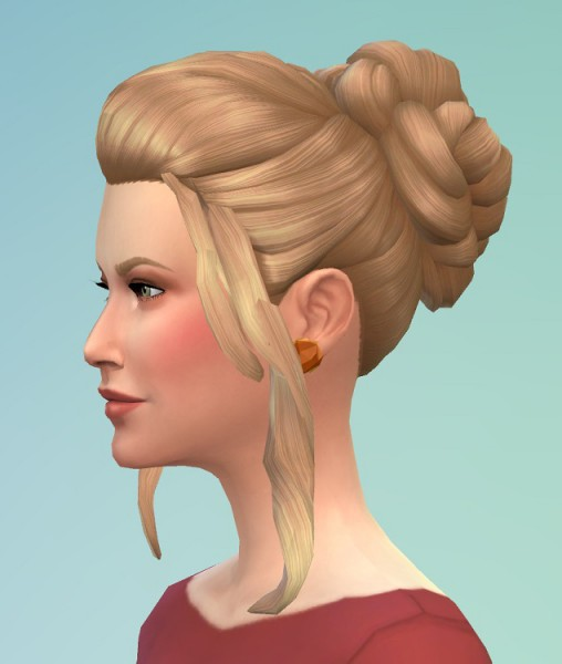 Birksches sims blog: Cate bun hair for Sims 4