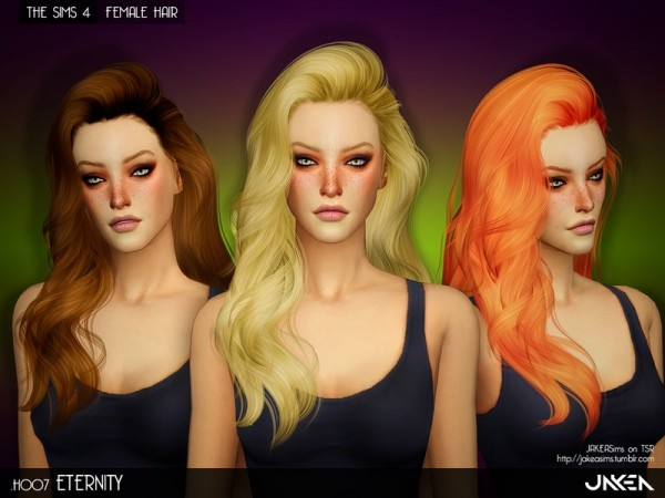 The Sims Resource: H007   Eternity hair by JAKEA for Sims 4