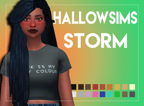 Weepingsimmer: Hallowsims Storm Maxis Matched for Sims 4