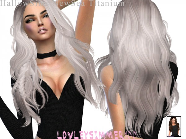 Simsworkshop: Newsea`s Titanium hair retextured by xLovelysimmer100x for Sims 4