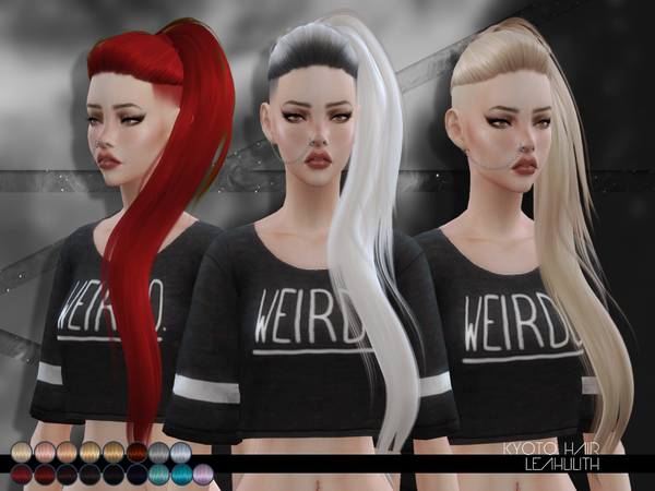 The Sims Resource: Kyoto Hair by LeahLillith for Sims 4