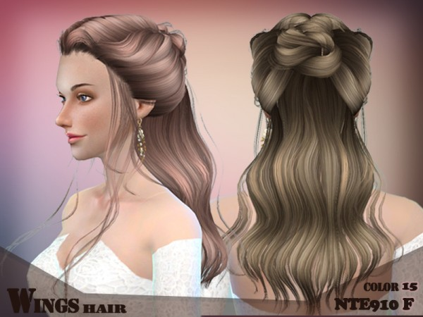 The Sims Resource: Hair NTE910F by Wingsims  for Sims 4