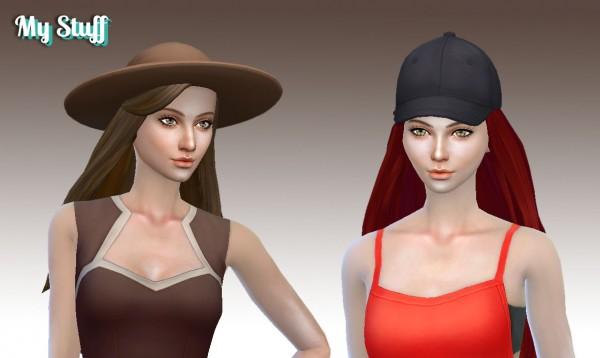 Mystufforigin: Twist hair for Sims 4