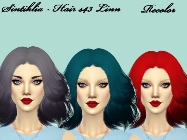 The Sims Resource: Sintiklia`s 43 Linn hair recolored by Naddiswelt for Sims 4