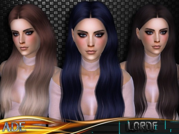 The Sims Resource: Lorde hair by Ade Darma for Sims 4