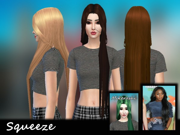 Mikerashi: Squeeze Hair for Sims 4