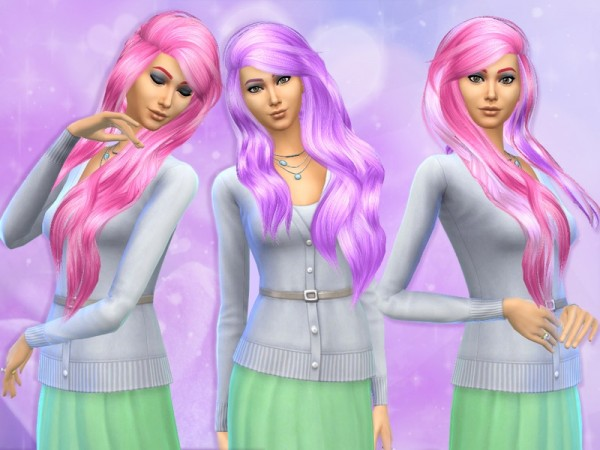 The Sims Resource: Princess Cadence Sanctuary hair retextured by lavonosa for Sims 4