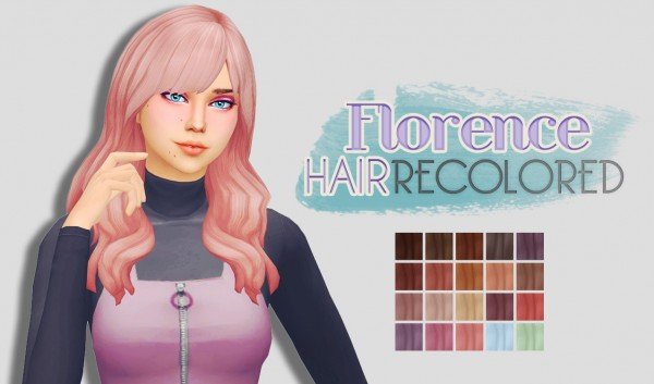 Whoohoosimblr: Florence hair recolored for Sims 4