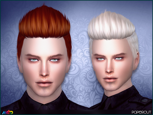 The Sims Resource: Papercut Hair by Anto for Sims 4