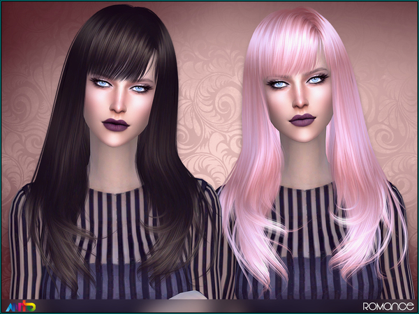 The Sims Resource: Anto   Romance Hair for Sims 4