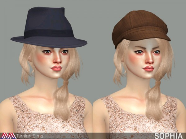 The Sims Resource: Sophia Hair 21 by tsminh 3 for Sims 4