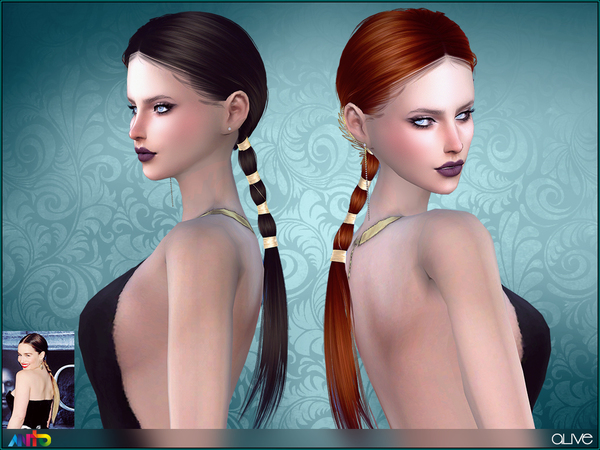 The Sims Resource: Anto`s Alive Hair for Sims 4