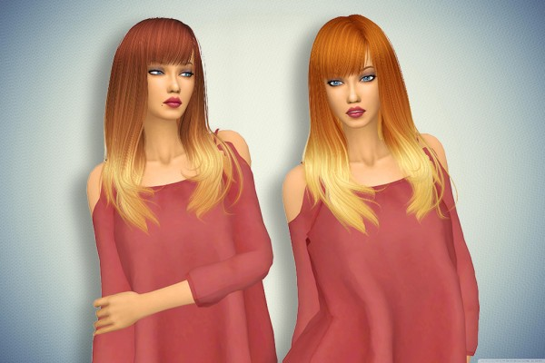 Pllumbobbilypixels: Anto`s Romance hair retextured for Sims 4