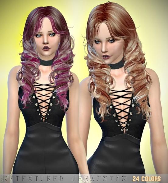 Jenni Sims: Newsea`s Yara hair retextured for Sims 4