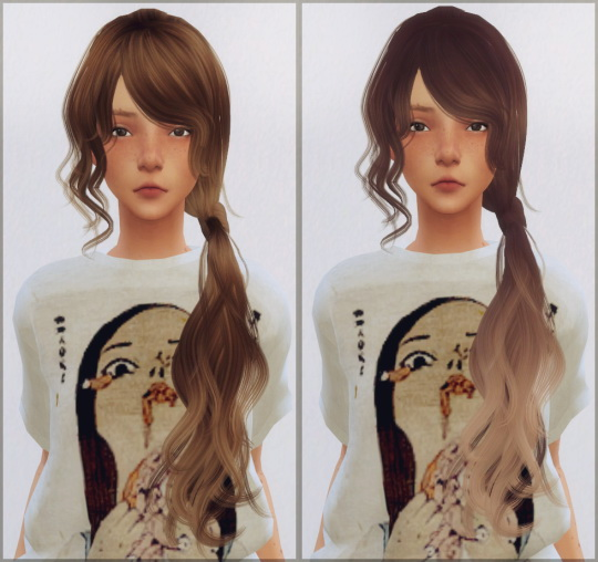 Ellie Simple: Wings Flummery hair converted for Sims 4