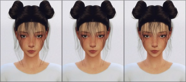 Ellie Simple: Baby hair converted by cyberryeezus for Sims 4