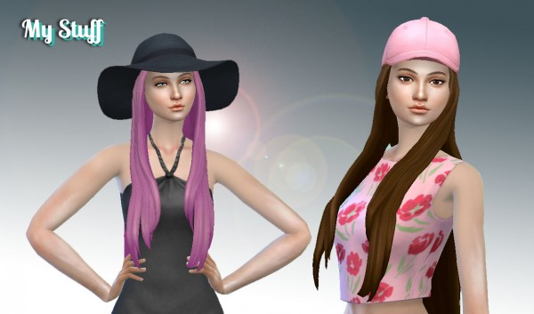 Mystufforigin: Pure Hair Version 2 + Bow for Sims 4
