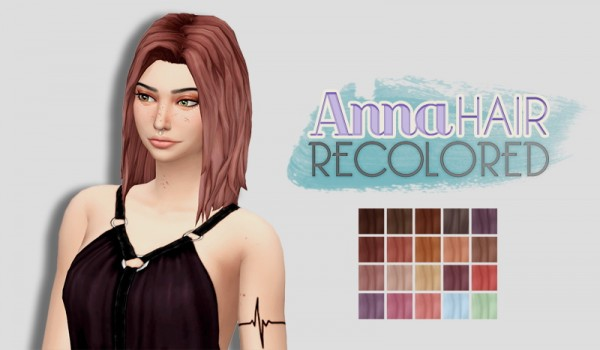 Whoohoosimblr: Anna hair recolored for Sims 4