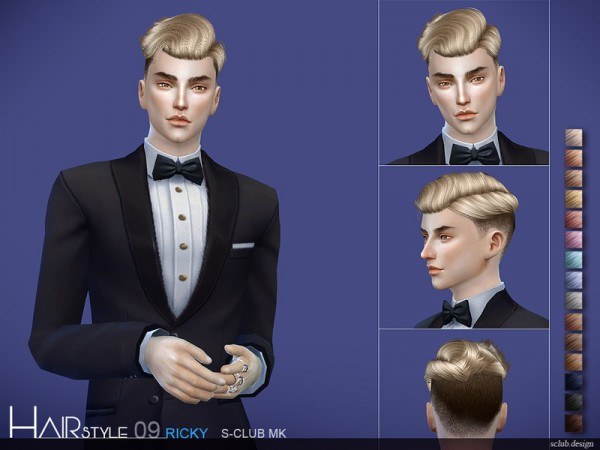 The Sims Resource: Hair N9 by S Club for Sims 4