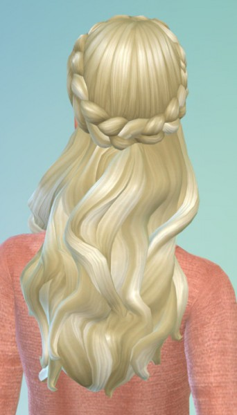 Birksches sims blog: Judys Half Braids Hair for Sims 4