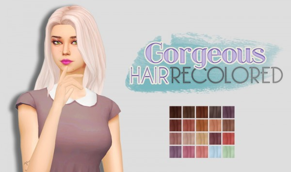 Whoohoosimblr: Gorgeous Hair recolored for Sims 4