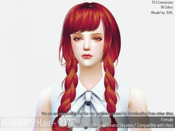 MAY Sims: May Hair 217F for Sims 4
