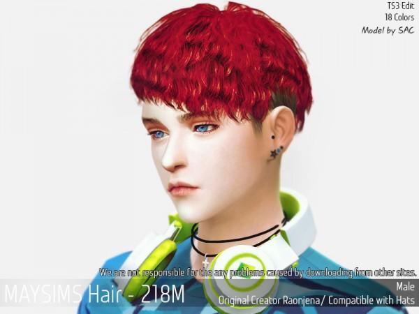MAY Sims: May 218M hair retextured for Sims 4