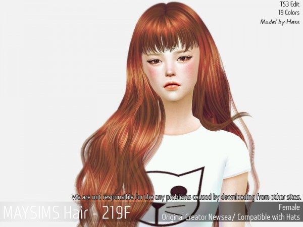 MAY Sims: May 219F hair retextured for Sims 4
