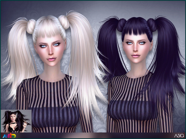 The Sims Resource: Asia Hair by Anto for Sims 4