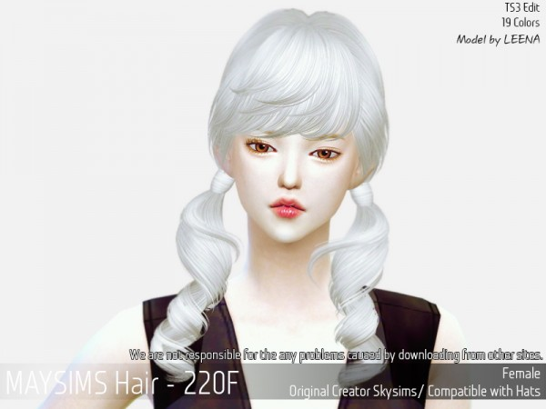 MAY Sims: May 220F hair retextured for Sims 4