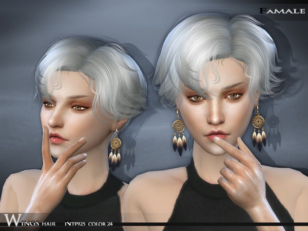 The Sims Resource: Hair   NTF925 by Wings for Sims 4
