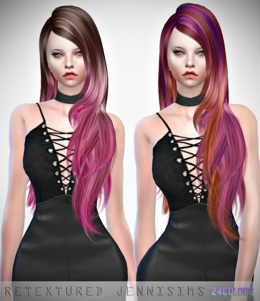 Jenni Sims: Skysims 087 and 207 Hairs retextured for Sims 4