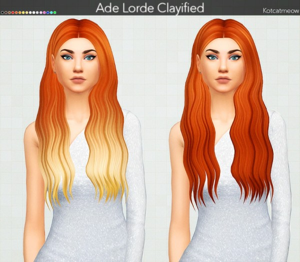 Kot Cat: Ade Lorde Hair Clayified for Sims 4
