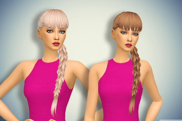 Pllumbobbilypixels: Anto`s Earth hair retextured for Sims 4