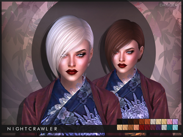The Sims Resource: Danger hair by Nightcrawler for Sims 4
