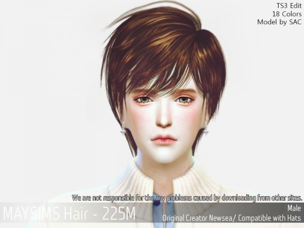 MAY Sims: May 224M hair retextured for Sims 4