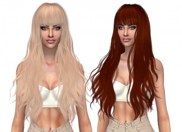Kenzar Sims: Butterfly`s 049 Hair Retextured for Sims 4
