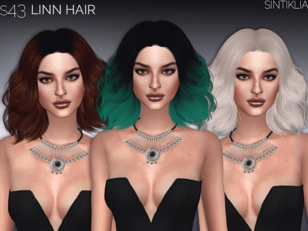 Sintiklia Sims: Linn hair for Sims 4