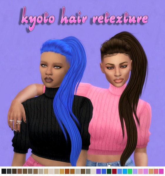 Simsworkshop: Kyoto Hair retextured by maimouth for Sims 4