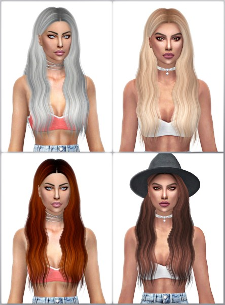 Kenzar Sims: Ade Lorde Hair Retextured for Sims 4