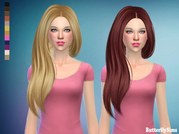 Butterflysims: Hair 178  no hat by Yoyo for Sims 4