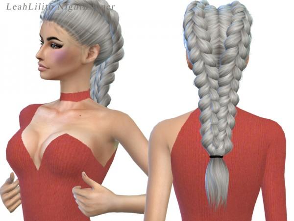 Simsworkshop: NightRunner hair recolored by xLovelysimmer100x for Sims 4