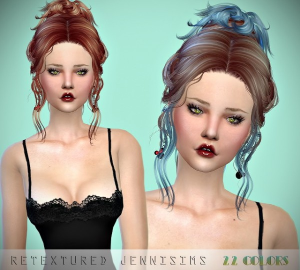 Jenni Sims: Newsea`s Vanna and FoanaDiTrevi Hairs retextured for Sims 4