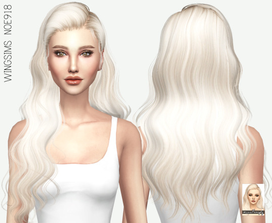 Miss Paraply: Wings NOE918 hair retextured for Sims 4