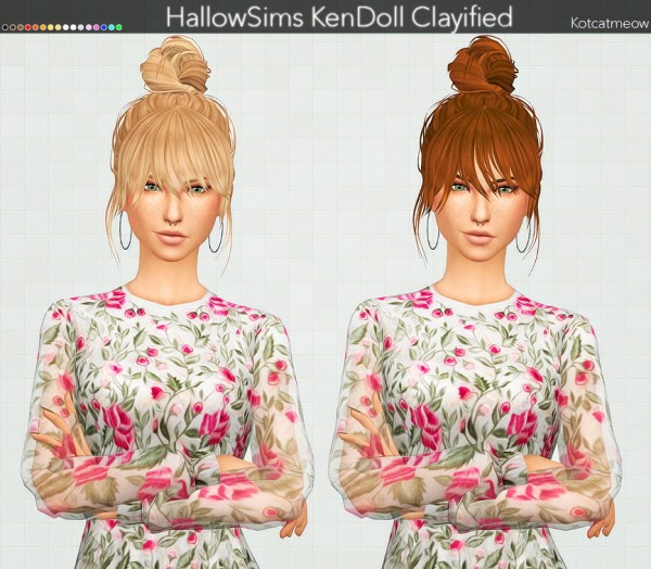 Kot Cat: Mandy and KenDoll Hairs Clayified for Sims 4