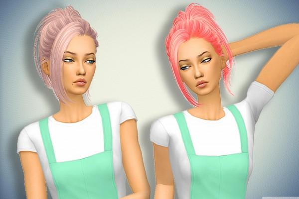 Pllumbobbilypixels: Butterfly`s 60 hair retextured for Sims 4