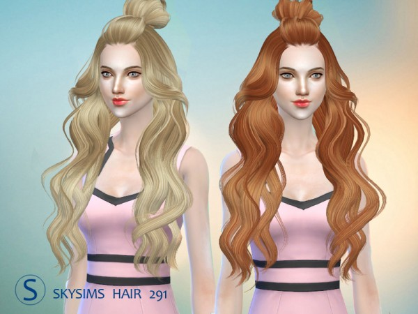 Butterflysims: Skysims 291 hair for Sims 4